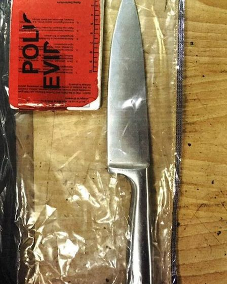 The knife which Odita threatened the motorist with