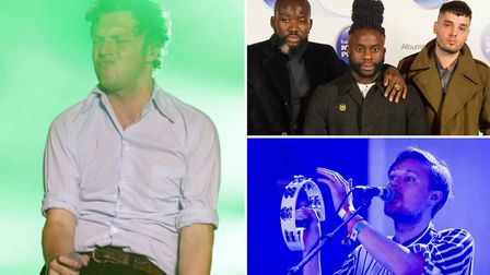 New support for All Points East includes (clockwise from top right) Young Fathers, Django Django and