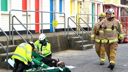 Exercise March Hare took place on Saturday at Lowestoft's sea front. PICTURE: Mick Howles