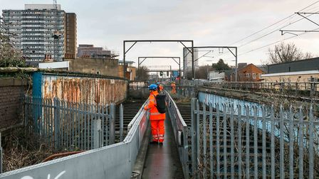 Network rail engineers assess the possibility of a garden walkway stretching from Camden Market to G