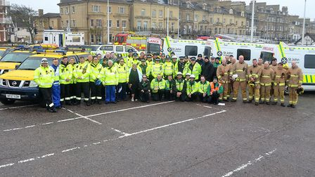 Around 60 people from St Johns Ambulance, Suffolk Constabulary, HM Coastguards and Suffolk Fire and