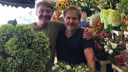 Micahel Silliton and John Cousans from The Flower Seller in Muswell Hill. Picture: MICHAEL SILLITON