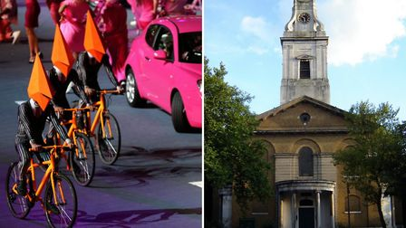St John at Hackney, right, will be redesigned by Es Devlin - the visual artist behind the 2012 Olymp