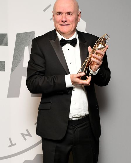 Dave Johns with the Best Actor Award for I Daniel Blake during the British Independent Film Awards,