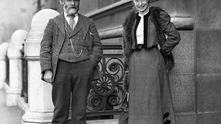Womens rights activist and writer Mary Macarthur with former Labour leader Mr Keir Hardie