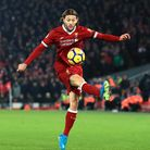 Liverpool's Adam Lallana in action (pic: Peter Byrne/PA Images).