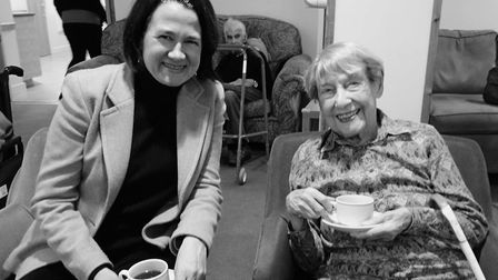 MP Catherine West with Ethel.