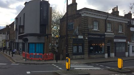 The new development at 69 Highgate High Street to the left. Picture: JON KING