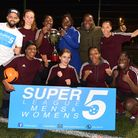 Super 5 league finals at Mabley Green pitches on 29.01.18. Winners of the Champions League Final PCY