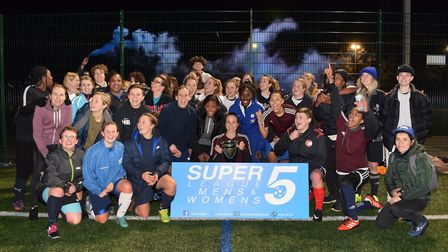 Super 5 league finals at Mabley Green pitches on 29.01.18. Players from all Super 5 League Finals