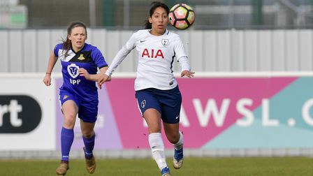 Tottenham Hotspur Ladies defender Lucia Leon in action against Doncaster Rovers Belles (pic: wusphot