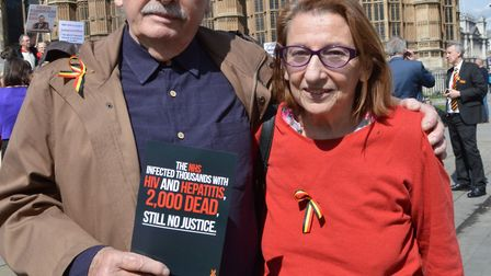 Highgate husband and wife Dan and Della Hirsch, whose son Nick died from hepatitis C contracted from