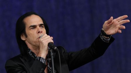 Nick Cave from the band Nick Cave & The Bad Seeds, pictured performing on the Pyramid Stage at the G