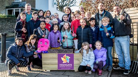 Hornsey and Wood Green MP Catherine West visited Highgate Primary School to mark the planting of 100