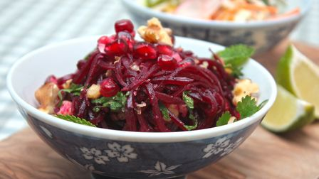 Pickled beetroot and pomegranate at Victory Mansion