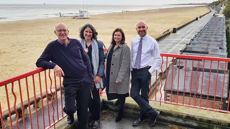 Plans for the First Light Festival on Lowestoft beach have received a funding boost. Pictured from l