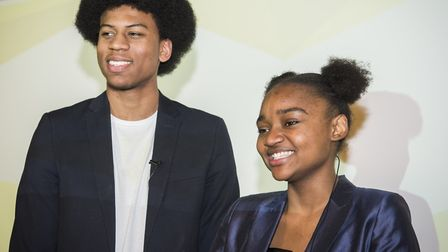 Kamani Williams and Rose Ilunga, Hackney's new young speakers. Picture: Hackney Council