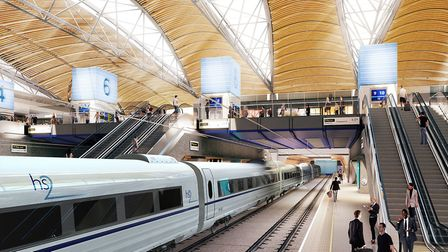 What the HS2 station at Euston could look like. Picture: GRIMSHAW ARCHITECTS/PA IMAGES