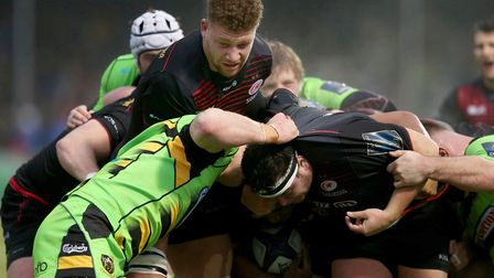 Saracens' Nick Isiekwe during the European Rugby Champions Cup clash against Northampton Saints (pic