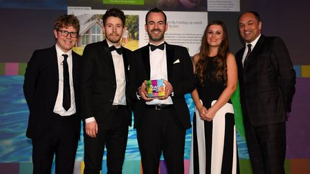 The marketing team from Lowestoft-based holiday firm Hoseasons have won a coveted national award. Pi