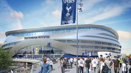 A digitial image of Tottenham's proposed new stadium.