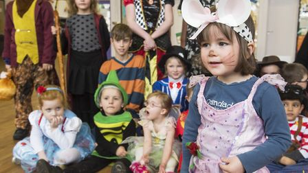 Fran from Westwood Primary School dressed as Angelina Ballerina for World Book Day.Picture: Nick But