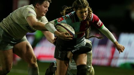 Hannah Botterman (left) is one of six Saracens players in the England Women under-20s squad to face