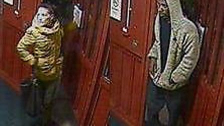 Police are looking for information on two people suspected of attacking and robbing a pensioner