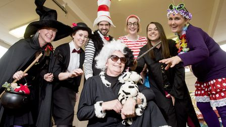 Staff from Westwood Primary School dress up for World Book Day.Picture: Nick Butcher