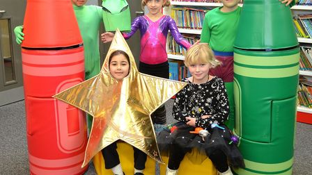 Children at Phoenix St Peter Academy in Lowestoft celebrate World Book Day. Picture: Mick Howes