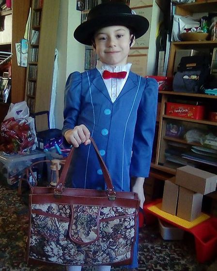 Shannon McWade from Roman Hill Primary School dressed as Mary Poppins. Picture: Cindy McWade