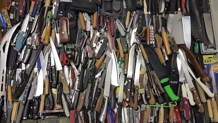 Knives recovered during the Met's Operation Sceptre. Picture: Met Police