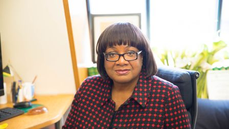 MP for Hackney North and Stoke Newington Diane Abbott in her parliamentary office. Picture: Elainea