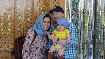 Nazanin Zaghari-Ratcliffe with husband Richard Ratcliffe and daughter Gabriella. Picture: RICHARD RA