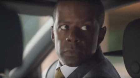 Adrian Lester parked outside Highgate School, featured in ITV drama Trauma. Picture: ITV