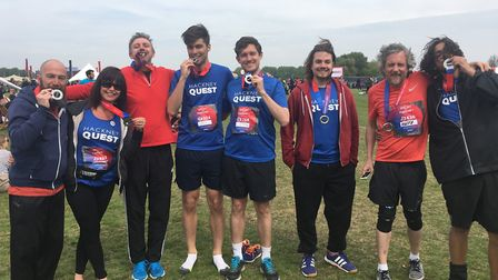 Runners for Hackney Quest after finishing the Hackney Half in 2017. Picture: Colette Allen/Hackney Q