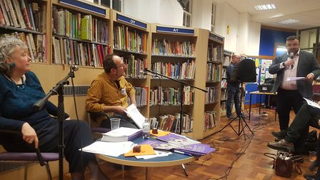 Jonathan Simpson assures the meeting that more libraries will close 'over his dead body'