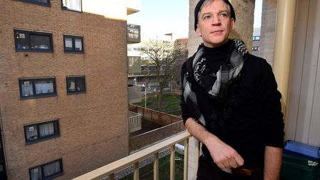 Freelance producer Andrew, 37, described the homeless hostel where he lived as a 'pressure cooker en
