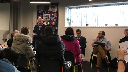 Healthwatch Hackney held a public meeting about hostels in January. Picture: Emma Youle