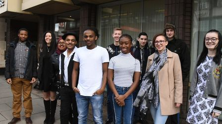 Students on the first day of their takeover of the Hampstead & Highgate Express