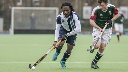 Hampstead & Westminster's Kwan Browne attacks against Surbiton (pic Mark Clews)