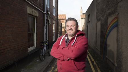 Tod Sullivan, the new mental health ambassador for Lowestoft, will travel to the USA later this year