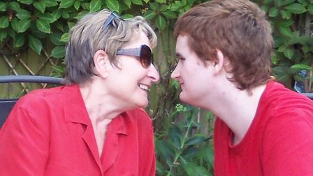 Mary Langan with her younger son James.