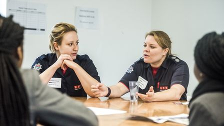 Firefighter Victoria Archer-Lee shares her storyl at Hackney Council's �inspiring young women day�.