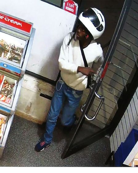 Derryck John walks into theTexaco garage in Mare Street to buy petrol during the 90 minute robbing s
