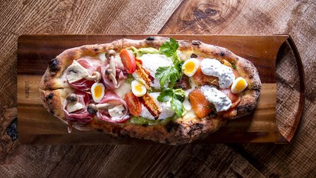 The Pinsa, a Roman style pizza made from rice flour. Picture: Thomas Alexander