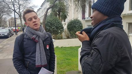 Columnist, author and campaigner Owen Jones was in Camden on Saturday, supporting the Labour candida