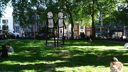 An artist's impression of what Stik's statue will look like in Hoxton Square. Picture: Hackney Counc