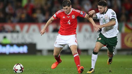 Ben Davies (left) in action for Wales against the Republic of Ireland (pic: Nick Potts/PA Images).