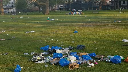 'Thoughtless brats' were told they were not welcome after the park was covered in litter. Picture: H